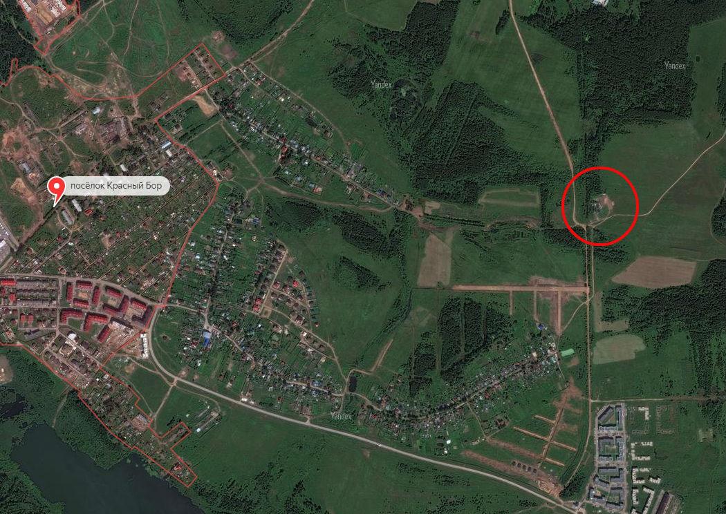 Свалка выросла между коттеджным посёлком «Солнечный бор» и деревней Красный бор
