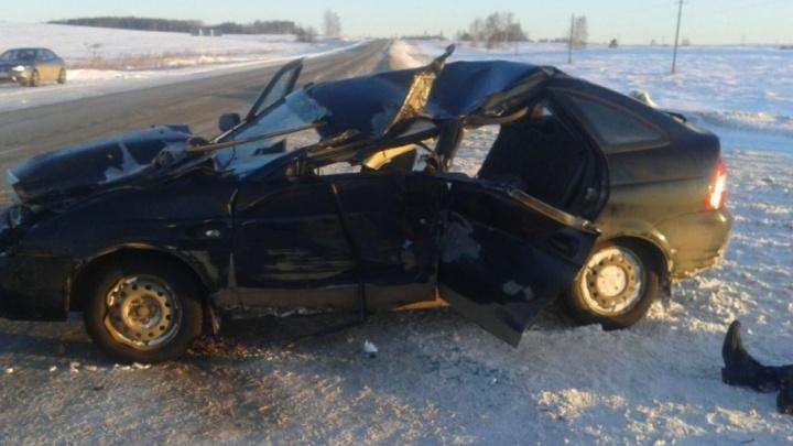 В Прикамье водитель Lada Priora погиб в ДТП с трактором