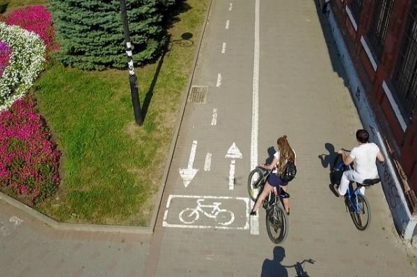 Общая длина велодорожек в Ростове — около 10 километров