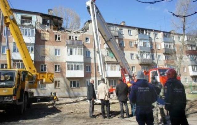 Жильцы взорвавшегося дома в Таганроге получили по пять тысяч рублей