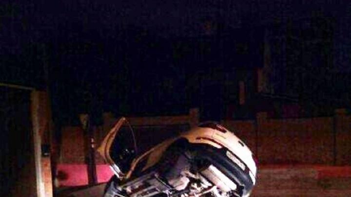 Пьяный водитель съехал в яму на Локомотивной
