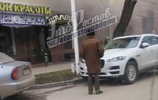 В центре Ростова сгорел салон красоты