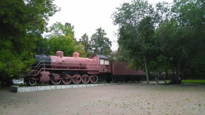 В Челябинске ищут собственника памятника-паровоза
