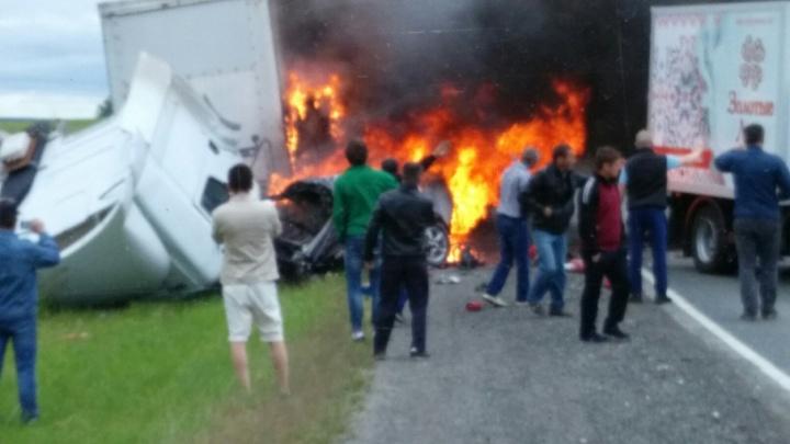 Под Тюменью Audi врезалась в грузовик: погибли двое