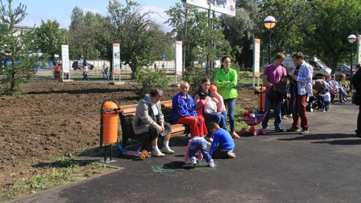 В Рыбинске с площади убрали и спрятали все скамейки