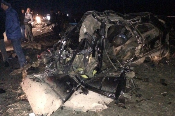 Шансов выжить, по мнению очевидцев, у водителя иномарки не было