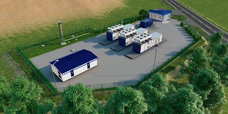 Станция дегазации компании Ecotech в Белоруссии