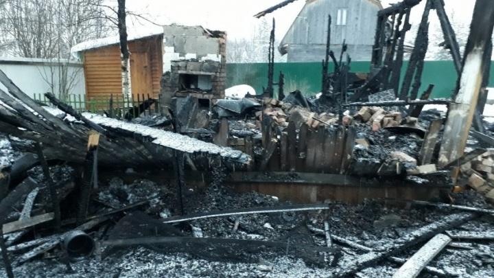Под Архангельском при пожаре погиб ребенок