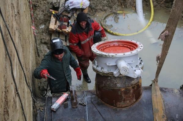 Холодной воды не будет в домах из-за подключения нового водовода