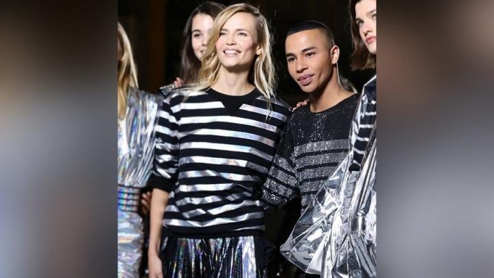«Одержима этими нарядами»: пермская топ-модель Наташа Поли блеснула на показе Balmain в Париже