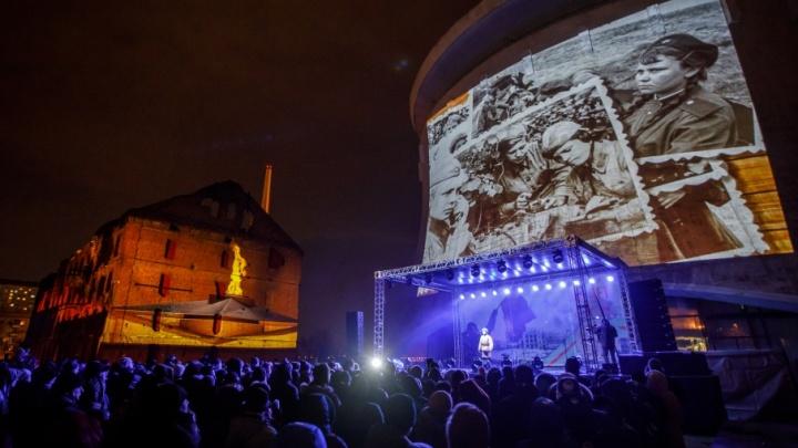 В Волгограде невероятное световое шоу разрушило и вновь собрало мельницу Гергардта