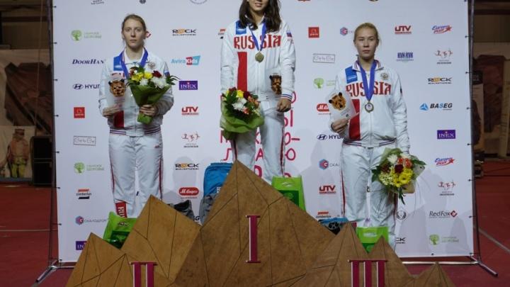 Тюменцы взяли три медали на первенстве Европы по скалолазанию