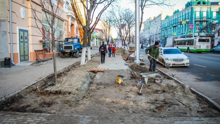 Ремонт Большой Садовой в Ростове закончат к июню