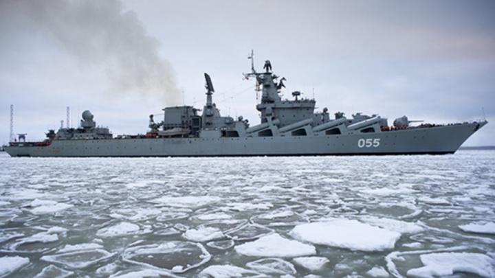 Модернизированный в Северодвинске ракетный крейсер «Маршал Устинов» провел стрельбы в Баренцевом море