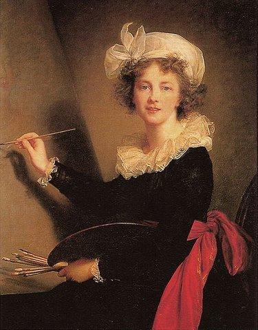 """Элизабет Виже-Лебрен. """"Автопортрет"""". 1790. Уффици, Флоренция"""