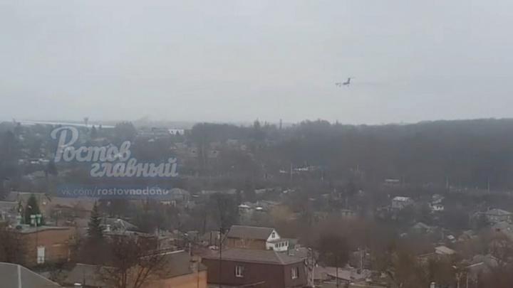 Ростовчане сняли на видео «подозрительный» самолет в небе над городом