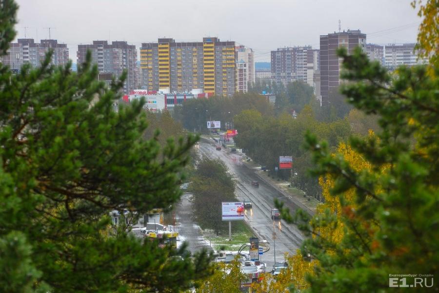 Отсюда видно часть улицы с панельками, а вдалеке виднеется первый «Кировский», мы до него ещё дойдём.