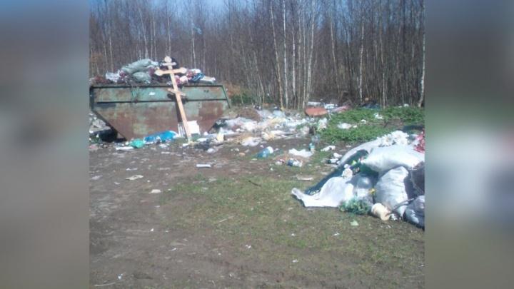 Выкинули даже крест: в Ярославской области кладбище превратили в свалку