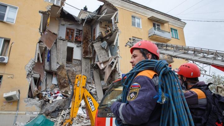 Взрыв дома на Университетском проспекте в Волгограде: фото с места событий