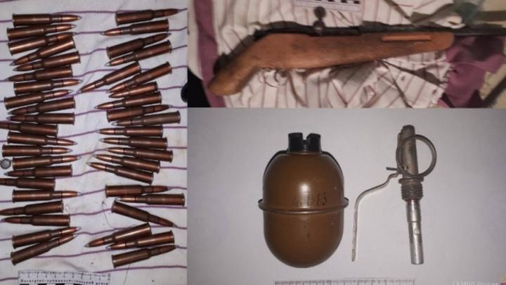 Полиция нашла у волгоградца обрез винтовки Мосина и боевую гранату