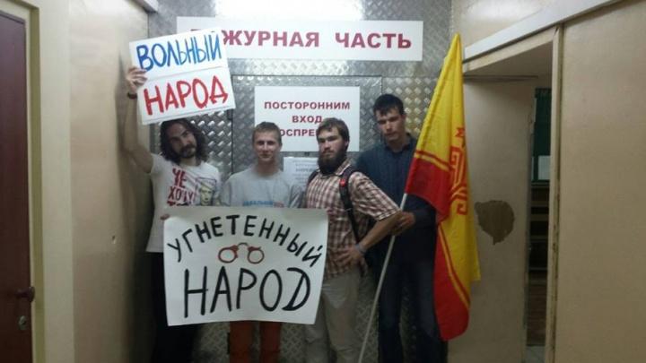 В Самаре полицейские задержали группу сторонников Алексея Навального