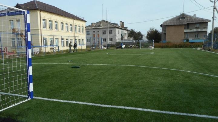 На Соловках появилось футбольное поле и площадка с тренажерами