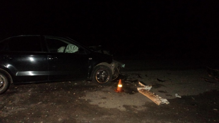 Сегодня ночью в Приморском районе столкнулись «Фольксваген» и «Понтиак»