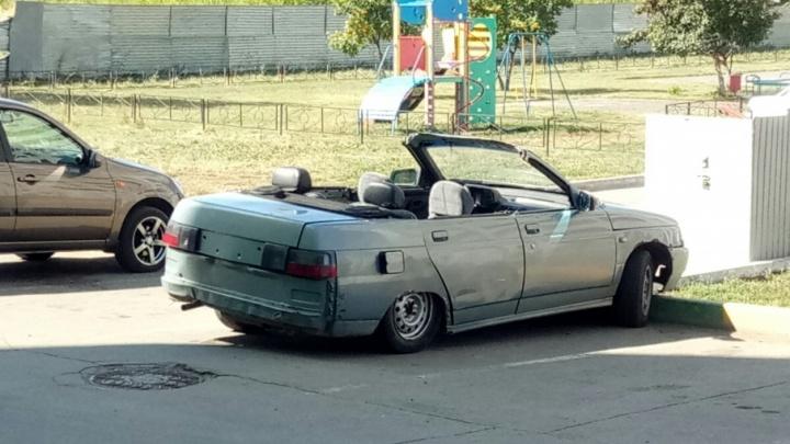 Машина мечты своими руками: по улицам Тольятти катается кабриолет из «десятки»