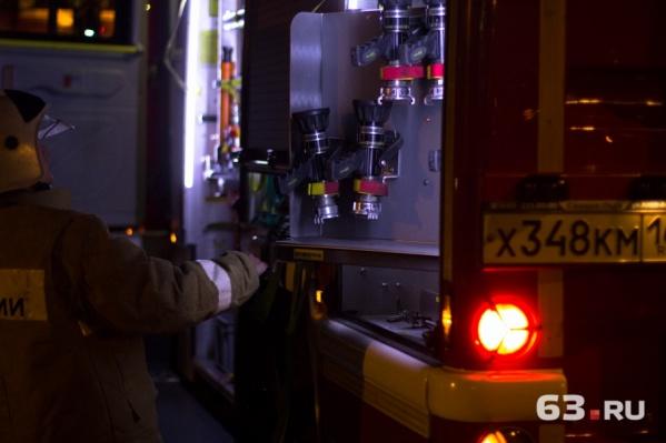 С огнем пожарные справились меньше, чем за полчаса