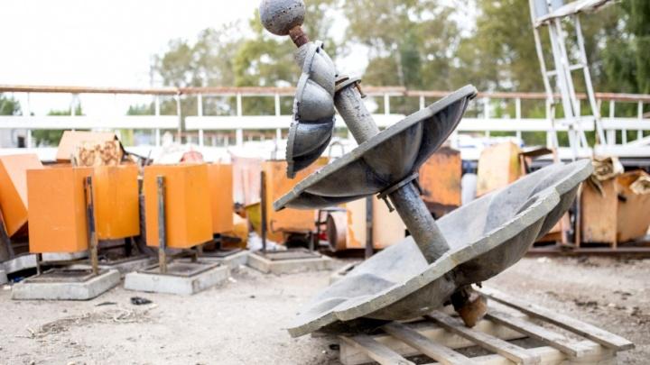 Разбитый фонтан из Демидовского сквера отдадут в музей