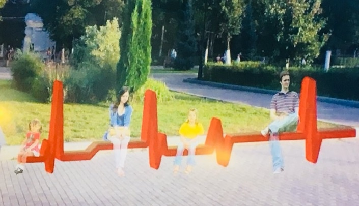 На набережной Волги в Самаре предлагают установить скамейки в виде кардиограммы