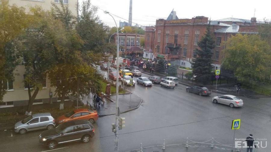 Эвакуация в Горном.