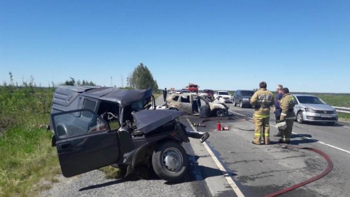 Два человека погибли в аварии на трассе Тюмень – Ханты-Мансийск