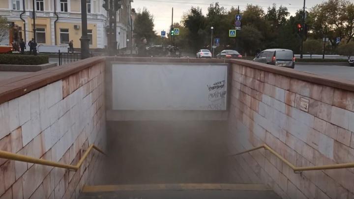 В подземном переходе у остановки «Яблонька» произошло короткое замыкание