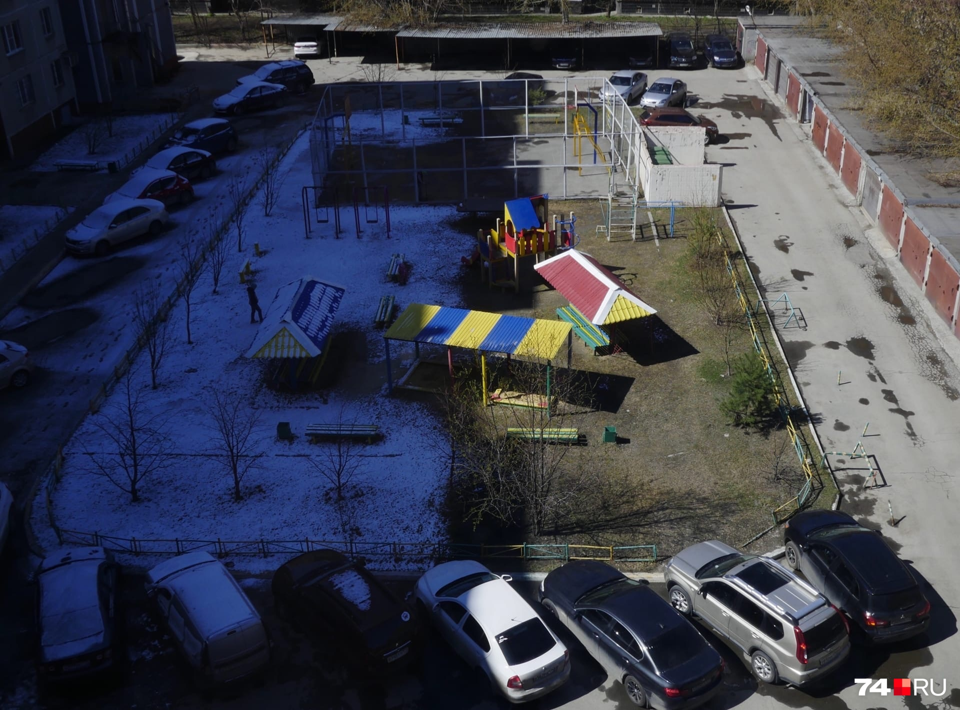 Челябинский двор оказался на границе зимы и весны