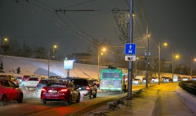 В преддверии Нового года Красноярск сковали пробки