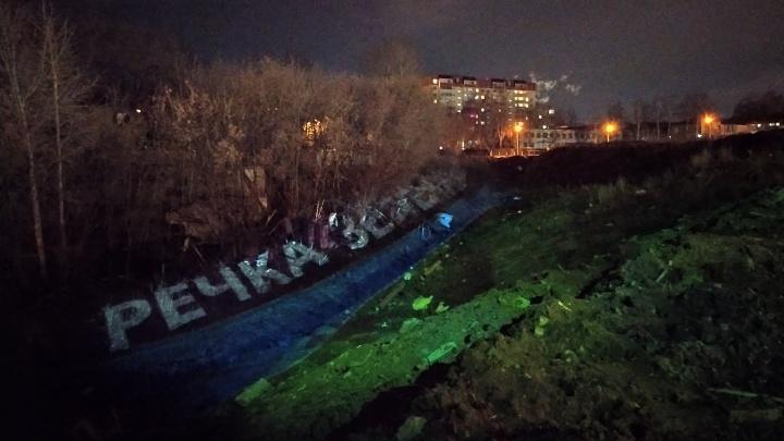 В Перми активисты устраивают световое шоу, чтобы спасти речку Зеленку