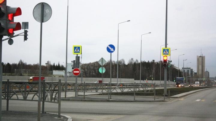 На кольце Серафимы Дерябиной — Объездной изменили правила проезда, разрешив новый поворот
