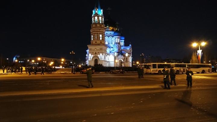 В Омске перекроют Соборную площадь для репетиции парада к 23 Февраля