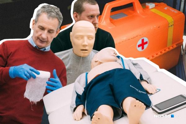 Омские медики объяснили и показали на манекенах, как оказывать первую помощь детям (в том числе и младенцам)