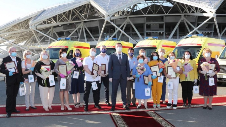Врачей Самарской области наградили за борьбу с коронавирусом