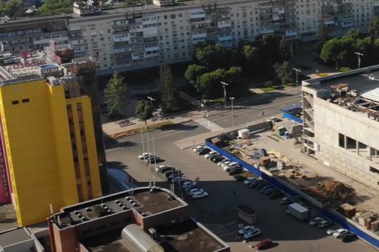 Одиннадцатиэтажный офис находится напротив будущего Дворца спорта