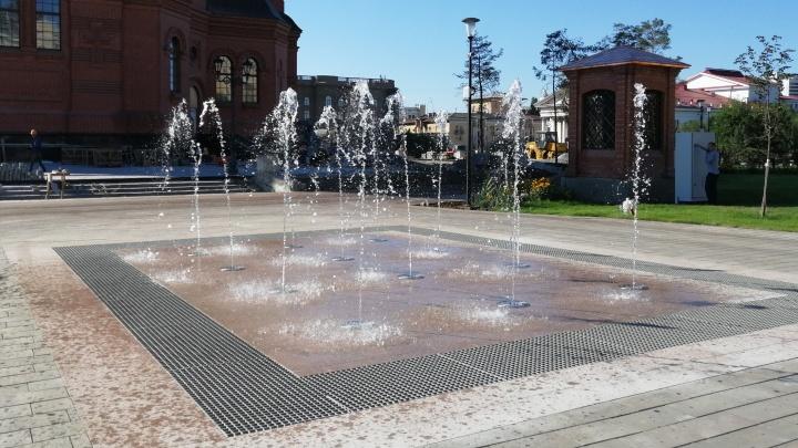 В Волгограде запустили фонтан в сквере за Александро-Невским собором