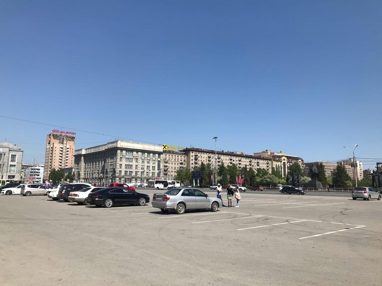 Новосибирцы освободили площадь Ленина