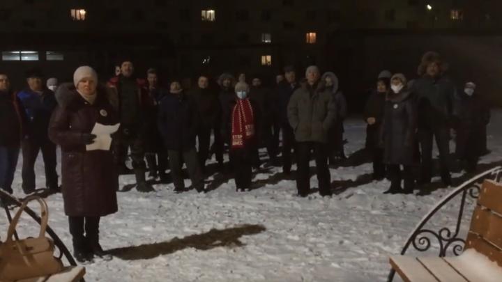 Жители Урдомы запустили фейерверк в честь отставки Игоря Орлова