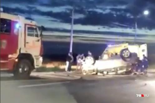В аварии участвовали пять машин