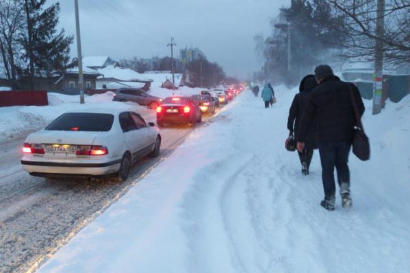 Проблемы возникли не только у водителей, но и у пешеходов