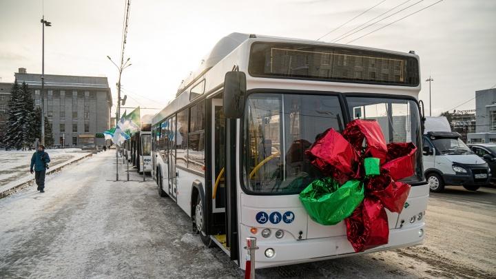 Новые белорусские автобусы выставили на площади Ленина — рассматриваем 7 фотографий