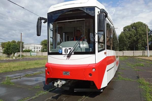 Новый вагон чаще всего можно увидеть на маршруте № 4