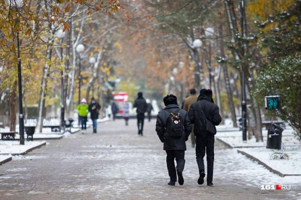 Первый снег застал ростовчан врасплох, но власти остались довольны своей работой